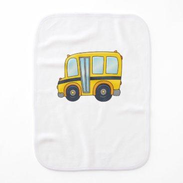 Beach Themed Cute Customizable School Bus Burp Cloth