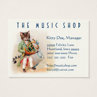 Cute Customizable Vintage Art Card - Musical Cats
