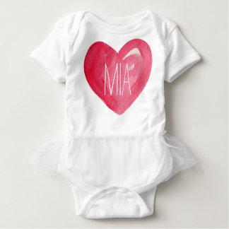 Cute Customize Baby Name Heart Baby Bodysuit