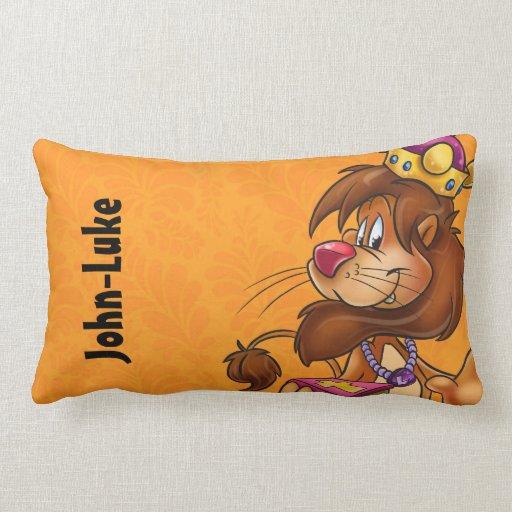 Cute Lion Pillow : Cute customize kids pillow with lion Zazzle