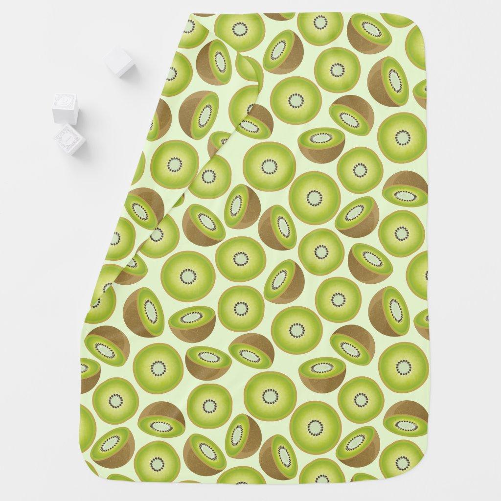 Cute Cut Kiwi Pattern Stroller Blanket