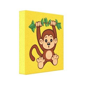 Cute Cute Cartoon Monkey Canvas Print