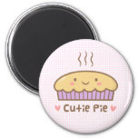 Cute Cutie Pie Doodle For Girls 2 Inch Round Magnet