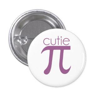Cute Cutie Pie Pi 1 Inch Round Button