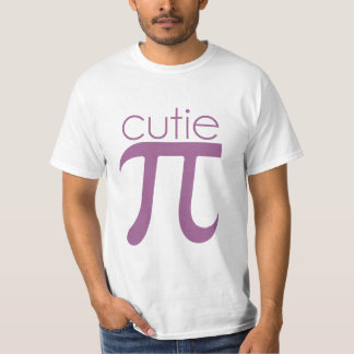 Cute Cutie Pie Pi Tee Shirt