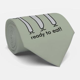 Cute Cutlery Utensils Fork Knife Spork Spoon Happy Neck Tie