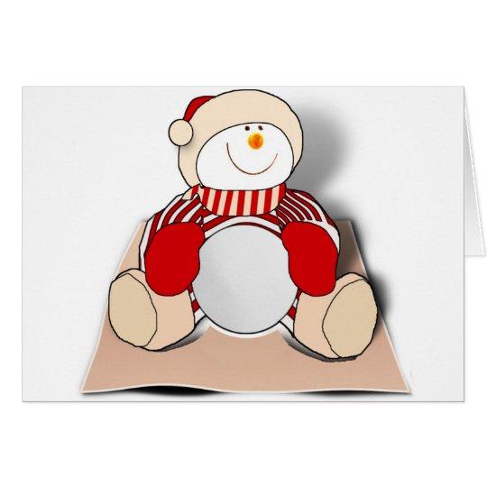Cute Cutout Snowman Card