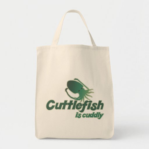 Cute Cuttlefish just wants to cuddle Grocery Tote Bag