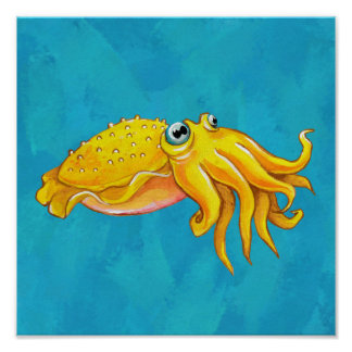 Cute Cuttlefish Poster