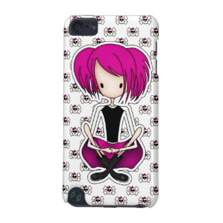 Cute Cyberpunk Goth Girl with Cerise Pink Hair iPod Touch (5th Generation) Covers