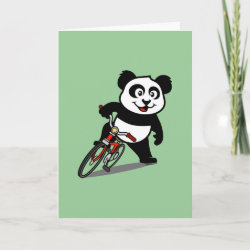 Standard Card with Cute Cycling Panda design