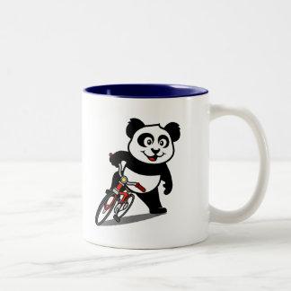 Cute Cycling Panda Coffee Mugs