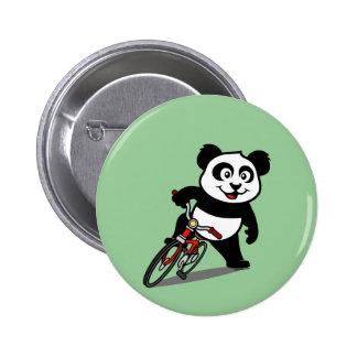 Cute Cycling Panda Pinback Button