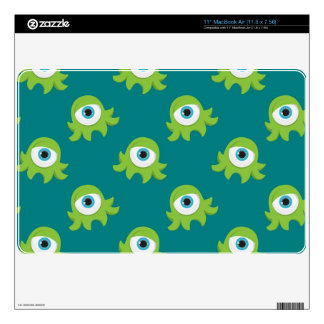 cute cyclops aliens in outer space skins for the MacBook air