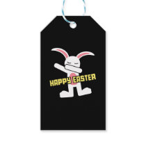 Cute Dabbing Bunny Happy Easter Gift Tags