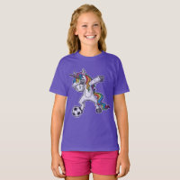 Cute Dabbing Unicorn Soccer T-Shirt