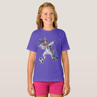 Cute Dabbing Unicorn Soccer T-Shirt