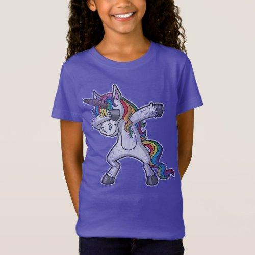 Cute Dabbing Unicorn T_Shirt