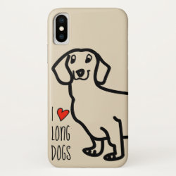 Case-Mate Barely There iPhone X Case with Dachshund Phone Cases design