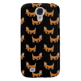 Cute Dachshund Cartoon Puppies Samsung Galaxy S4 Case