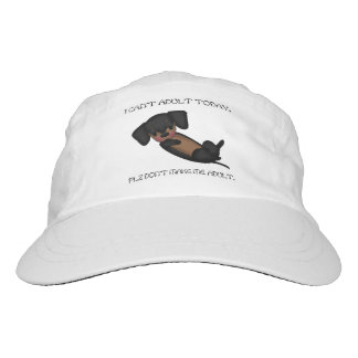 Cute Dachshund Dog Funny Black and Tan Puppy Headsweats Hat