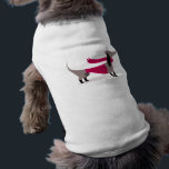 """Cute Dachshund Dog Pet Clothing<br><div class=""""desc"""">Cute Dachshund Dog with fancy dress and scarf  on pet clothing.</div>"""