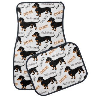 Cute Dachshund Doxie Dog Pattern Car Mat
