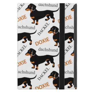 Cute Dachshund Doxie Dog Pattern Cover For iPad Mini