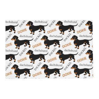 Cute Dachshund Doxie Dog Pattern Placemat