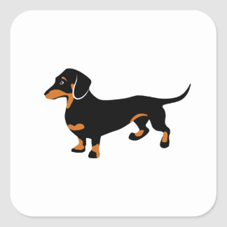 Cute Dachshund - Doxie Dog Square Sticker