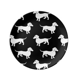 Cute Dachshund Doxie Pattern Dinner Plate