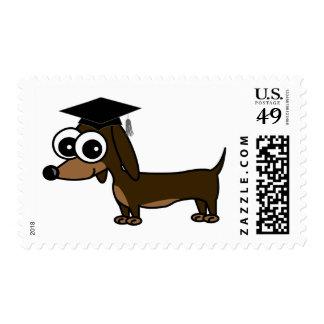 Cute Dachshund Graduation Postage