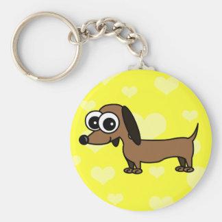 Cute Dachshund Keychain - Yellow