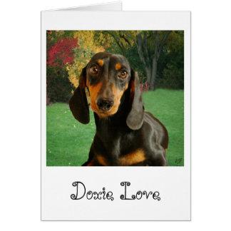 Cute Dachshund (Miniature Brown Short Haired) Card