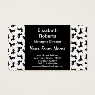 Cute Dachshund Pattern Business Card