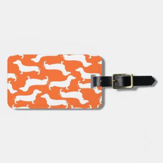 Cute Dachshund Pattern Perfect Gift for Doxie Love Bag Tag