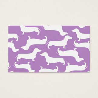 Cute Dachshund Pattern Perfect Gift for Doxie Love Business Card
