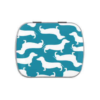 Cute Dachshund Pattern Perfect Gift for Doxie Love Candy Tins