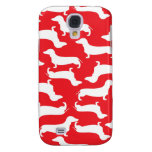 Cute Dachshund Pattern Perfect Gift for Doxie Love Galaxy S4 Cases