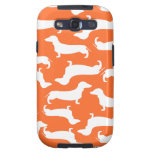 Cute Dachshund Pattern Perfect Gift for Doxie Love Galaxy SIII Case
