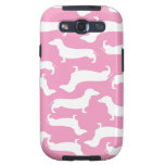Cute Dachshund Pattern Perfect Gift for Doxie Love Galaxy S3 Cover