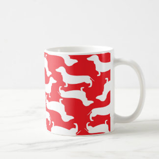 Cute Dachshund Pattern Perfect Gift for Doxie Love Classic White Coffee Mug