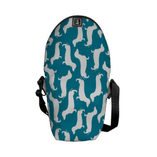 Cute Dachshund Pattern Perfect Gift for Doxie Love Courier Bag