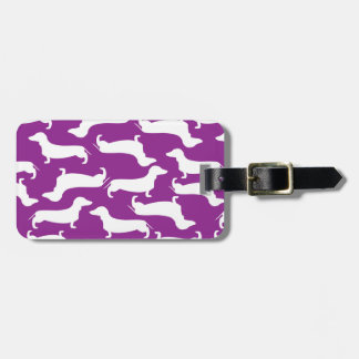 Cute Dachshund Pattern Perfect Gift for Doxie Love Travel Bag Tag