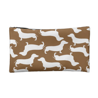 Cute Dachshund Pattern Perfect Gift for Doxie Love Makeup Bag