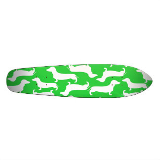 Cute Dachshund Pattern Perfect Gift for Doxie Love Skateboard Deck