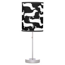 Cute Dachshund Pattern Perfect Gift for Doxie Love Table Lamp