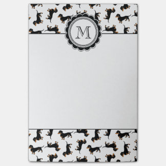 Cute Dachshund Pattern Post-it Notes