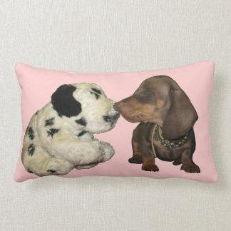 CUTE dachshund Pluto KISS cushion blush Pillow