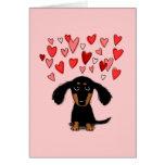 Cute Dachshund Puppy Valentine Card
